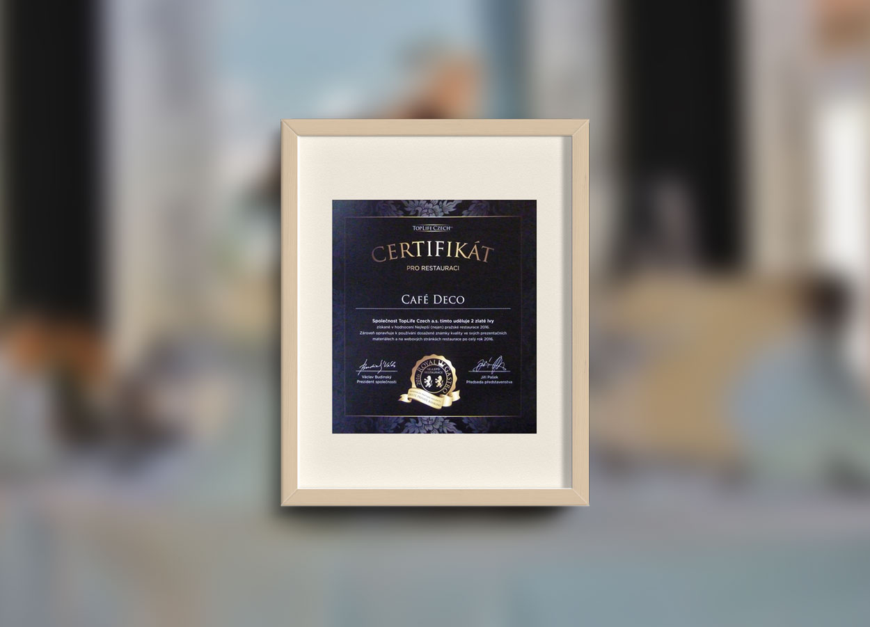 Royal gastro certificate 2016